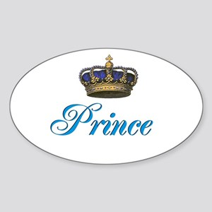 Blue Prince text with crown Sticker