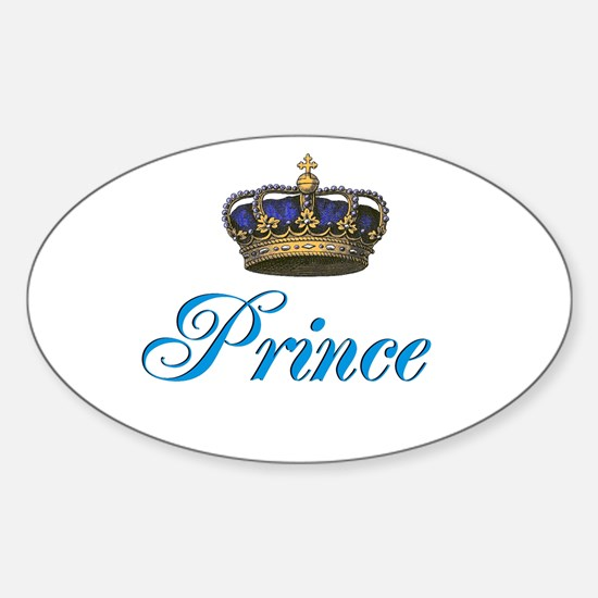 Blue Prince text with crown Decal