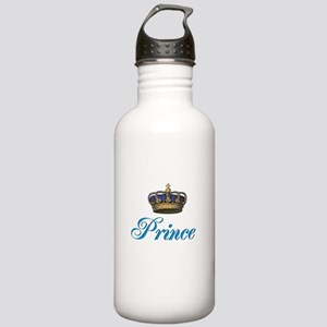 Blue Prince text with crown Sports Water Bottle
