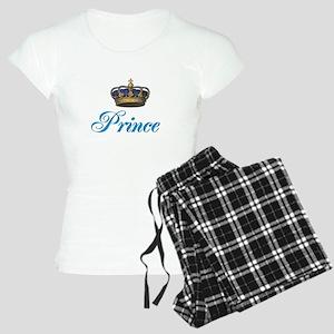 Blue Prince text with crown pajamas