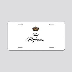 His Highness Aluminum License Plate