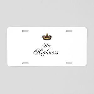 Her Highness Aluminum License Plate