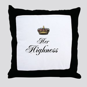 Her Highness Throw Pillow