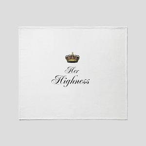 Her Highness Throw Blanket