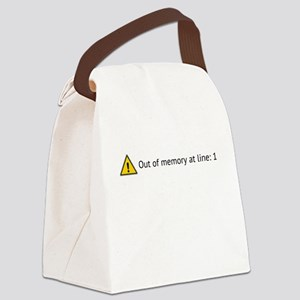 Out of memory Canvas Lunch Bag