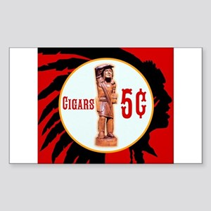 5¢ CIGARStore Indian Sticker
