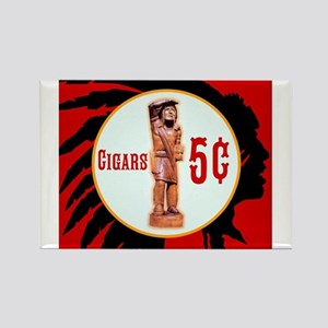 5¢ CIGARStore Indian Rectangle Magnet