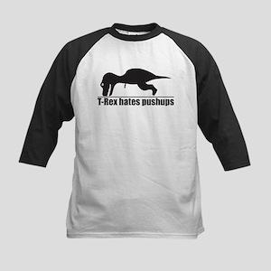 Funny T-rex Hates Pushups Baseball Jersey