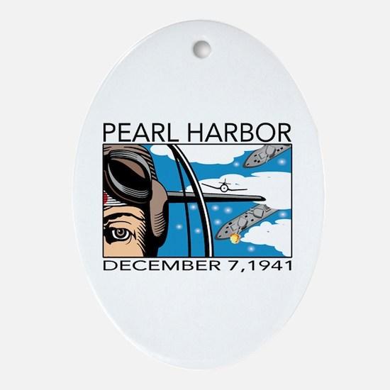 Pearl Harbor Oval Ornament