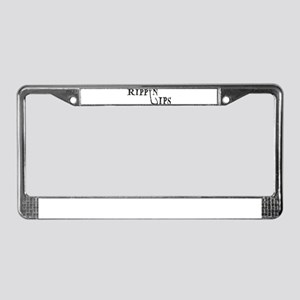 Rippin Lips Logo License Plate Frame