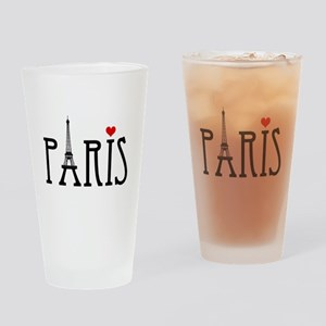 Love Paris with Eiffel tower and red heart Drinkin