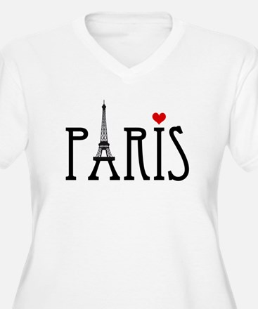 Love Paris with Eiffel tower and red heart Plus Si