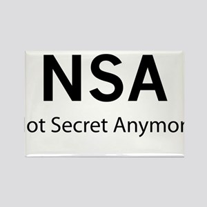NSA Not Secret Anymore Rectangle Magnet