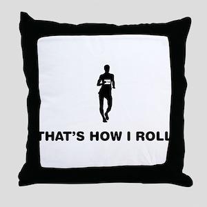 Race Walking Throw Pillow