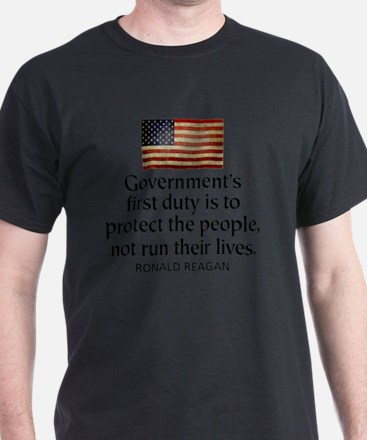 REAGAN: Government's first duty... QUOTE T-Shirt