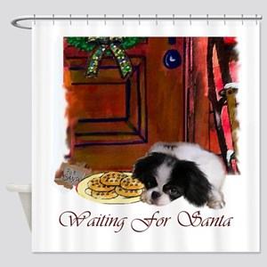 Japanese Chin Christmas Shower Curtain