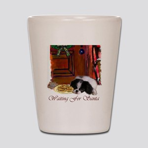 Japanese Chin Christmas Shot Glass