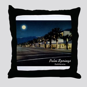 Night Scene, Palm Springs, California Throw Pillow