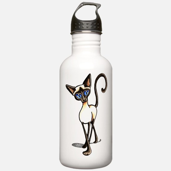 Siamese Cat Crosswalk Water Bottle