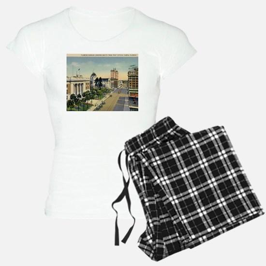 Florida Ave., Tampa, Florida Vintage Pajamas