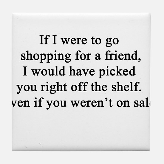 Friendship Quote Tile Coaster