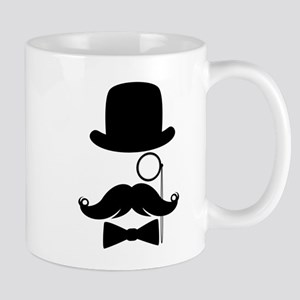 Funny Mustache Face With Monocle Mug