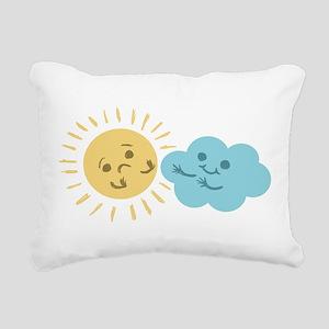 Cloud Hug Rectangular Canvas Pillow