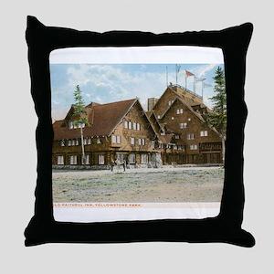 Old Faithful Inn, Yellowstone Park, Vintage Throw