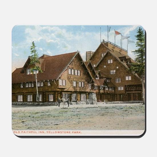 Old Faithful Inn, Yellowstone Park, Vintage Mousep