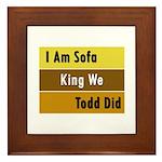 Sofa King Framed Tile