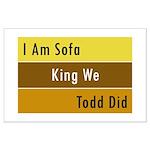 Sofa King Large Poster