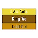 Sofa King Rectangle Sticker