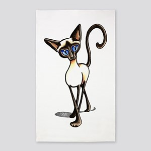 Siamese Cat Crosswalk 3'x5' Area Rug