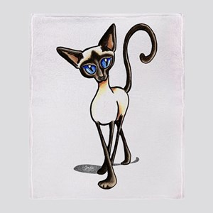 Siamese Cat Crosswalk Throw Blanket