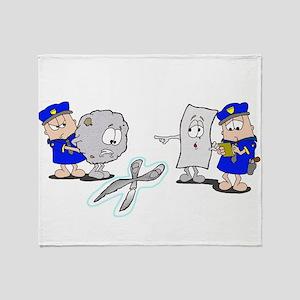 Paper Rock Scissors Throw Blanket