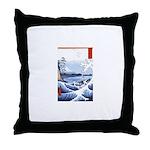 Ukiyo-e Mount Fuji Throw Pillow