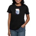 Ukiyo-e Mount Fuji Women's Dark T-Shirt