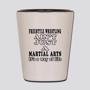 Freestyle Wrestling Martial Arts Designs Shot Glas