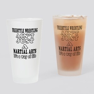 Freestyle Wrestling Martial Arts Designs Drinking