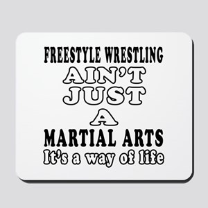 Freestyle Wrestling Martial Arts Designs Mousepad