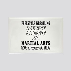 Freestyle Wrestling Martial Arts Designs Rectangle