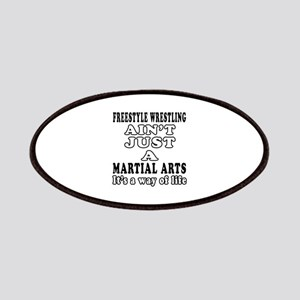 Freestyle Wrestling Martial Arts Designs Patches
