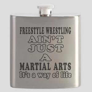 Freestyle Wrestling Martial Arts Designs Flask