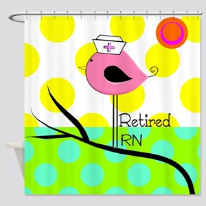 Retired RN Pillow Shower Curtain