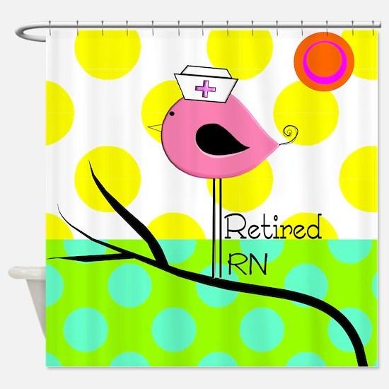 Retired RN Pillow Shower Curtain
