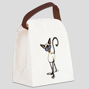 Siamese Cat Crosswalk Canvas Lunch Bag