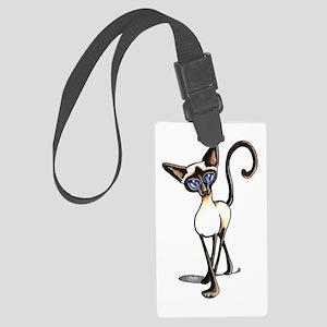 Siamese Cat Crosswalk Luggage Tag