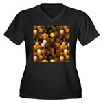 SteamCubism - Brass - Women's Plus Size V-Neck Dar