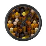 SteamCubism - Brass - Large Wall Clock