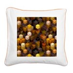 SteamCubism - Brass - Square Canvas Pillow